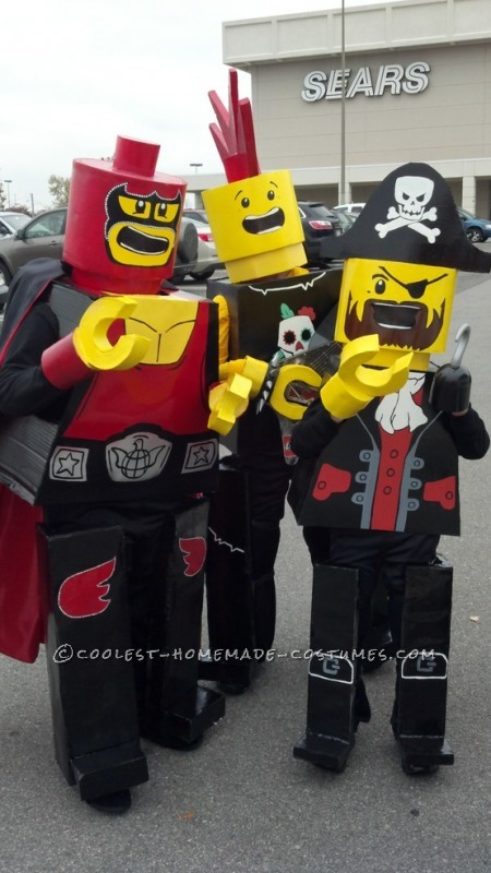 Cool LEGO Kids Group Costume
