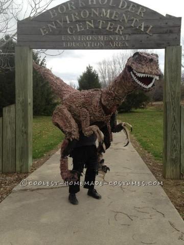 Life-Size, Epic 13' Walking Raptor Dinosaur Costume