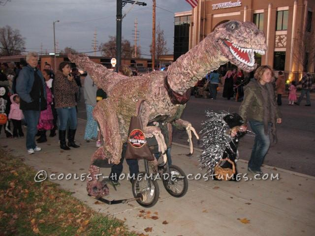 Life-Size, Epic 13' Walking Raptor Dinosaur Costume