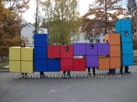 Life-Size Tetris Family Halloween Costume