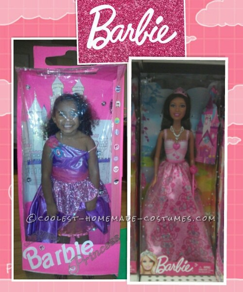 Liberty next to her Barbie