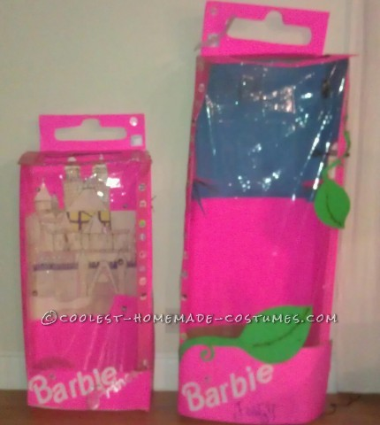 Life-Size Toddler Barbie in the Box Costumes