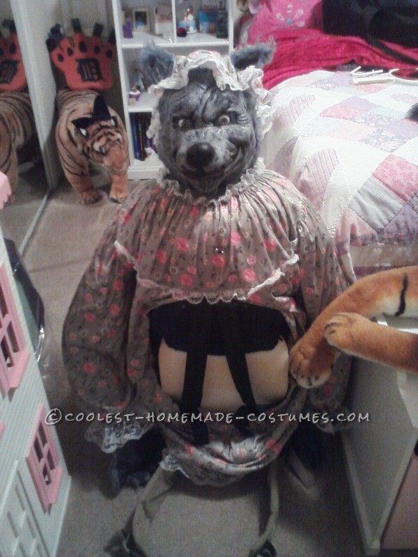 Original Wolf Captures Little Red Riding Hood Illusion Costume - 4