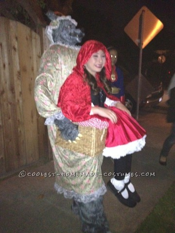This is my Little red ridinghood and big bad wolf illusion costume.