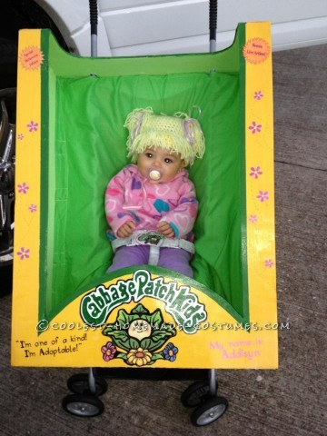 Cutest Homemade Cabbage Patch Doll Costume for a Baby: I love making Halloween costumes and over the years I have made my fair share. Oompa Loompa's, Shrek, a butler carrying a head on a platter. My daught