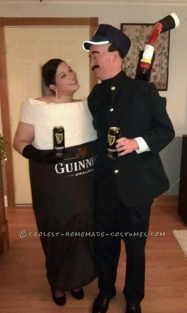 Pint of Glamorous Guinness Beer and Zookeeper Homemade Couple Costume