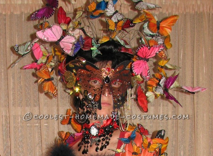 Artistic Homemade Madame Butterfly Costume