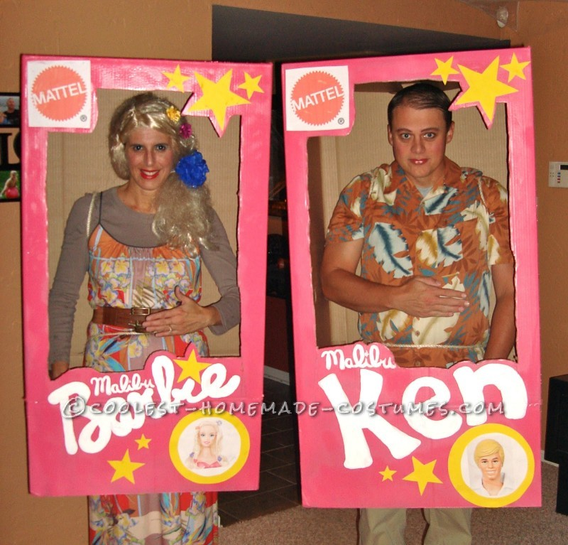 Malibu Barbie and Ken Couple Costume: I wanted a cool costume this year but one that wouldn't break the bank.  Costumes are quite pricey!  My husband and I like to go as a couple so I ha