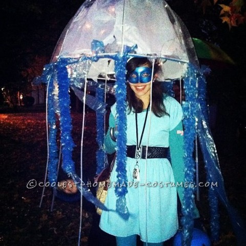 I wasn't going to do this costume till I found the umbrella. The total cost of the costume was around 35dollers. The weather trick or tr