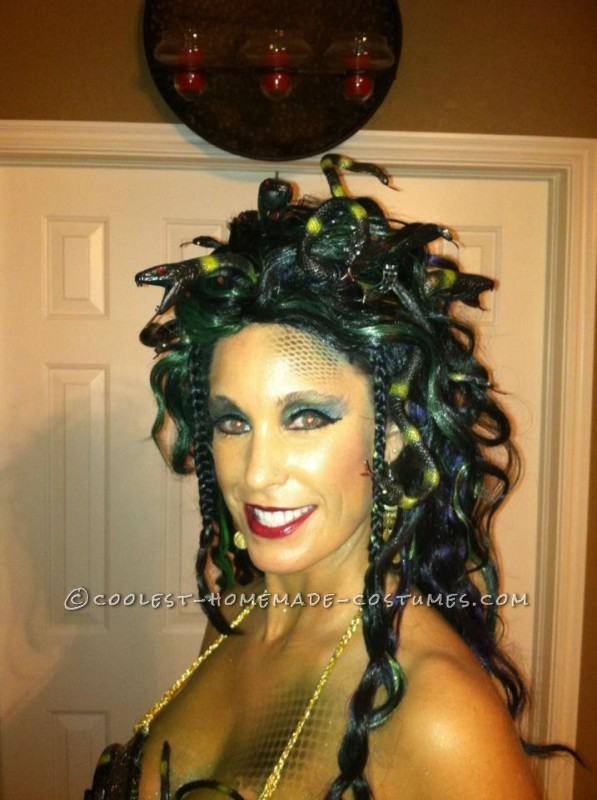 Homemade Medusa Wig http://ideas.coolest-homemade-costumes.com/2012/11/03/coolest-homemade-medusa-costume/