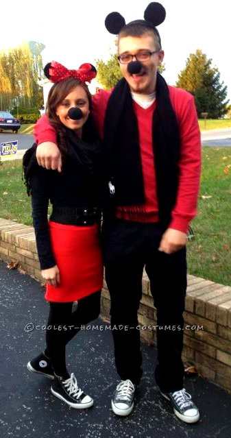 Mickey and Minnie Mouse Costume for a Couple