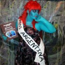 HEY THERE!! My name is Heather and this is my Miss. Argentina Costume.... I was watching beetlejuice one night in the summer and the lightbulb turne