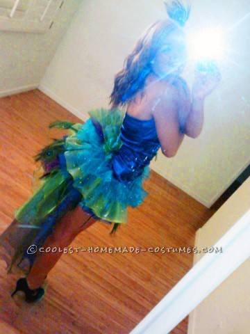 Modest Yet Sexy Homemade Peacock Costume: Ever since I saw the Katy Perry movie, I knew I wanted to be a peacock for Halloween! So I headed to my nearest SAS and Joann's and got to work! 95% o