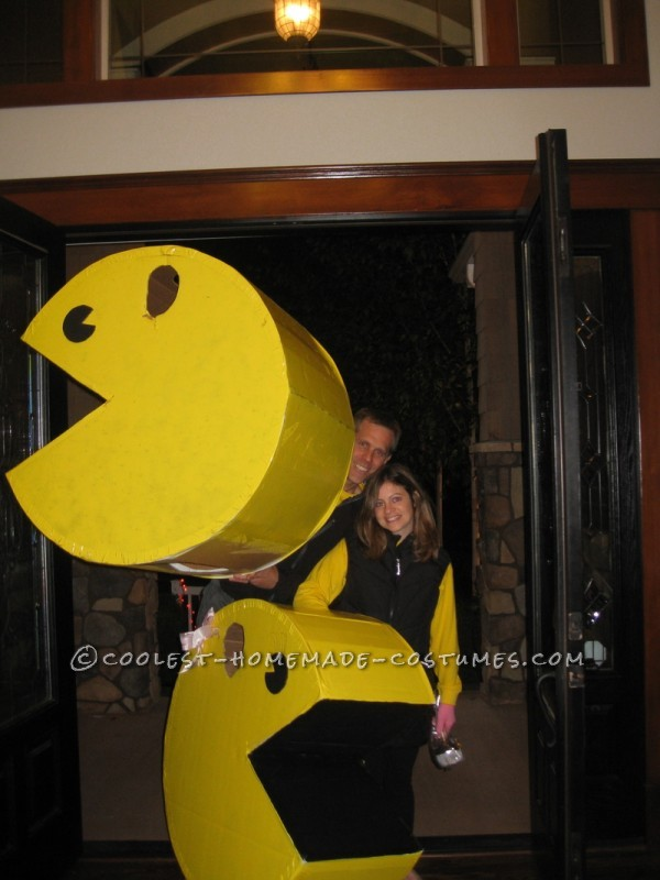 All Cardboard Mr. and Mrs. Pacman Couple Halloween Costume - 1