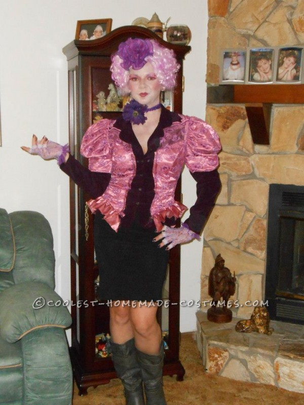Coolest Homemade Effie Trinket from The Hunger Games Costume - 1