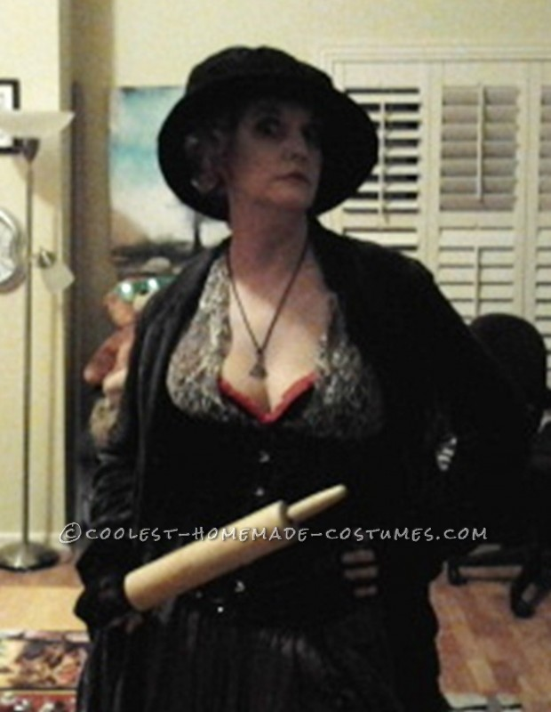 Cool Mrs. Lovett Homemade Halloween Costume - 3