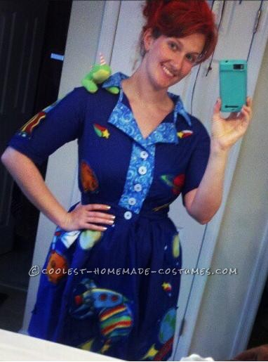 Homemade Ms. Frizzle Costume of The Magic School Bus