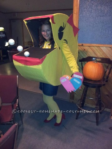 Original Homemade Halloween Costume: Ms. Pacman Comes Alive!