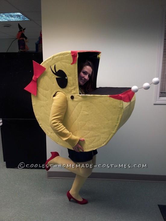 Original Costumes.Original Homemade Halloween Costume Ms Pacman Comes Alive