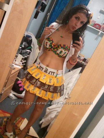One of A Kind Sexy M&M Girl Costume