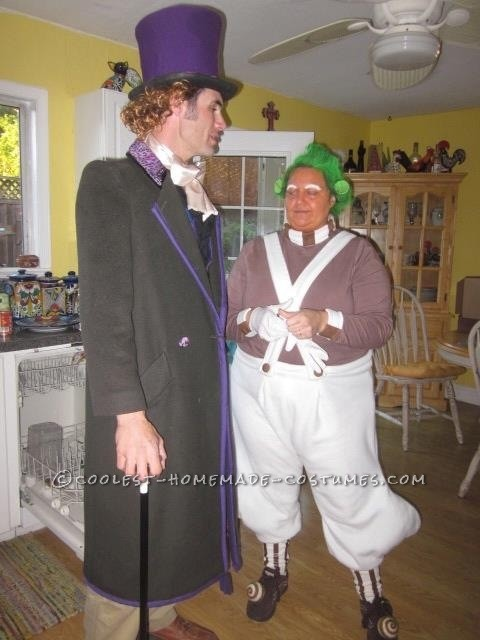 Homemade Oompa Loompa and Willy Wonka Couple Costume (Won 1st Place in 3 Contests!) - 5