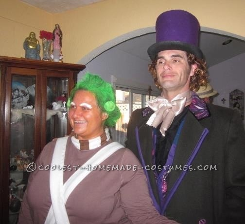 Homemade Oompa Loompa and Willy Wonka Couple Costume (Won 1st Place in 3 Contests!) - 3