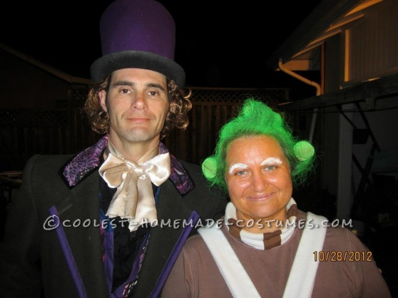 Homemade Oompa Loompa and Willy Wonka Couple Costume (Won 1st Place in 3 Contests!) - 1