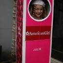 Original American Girl Doll Julie Costume for a Girl: My daughter wanted to be the American Girl Doll Julie for Halloween. I thought it would be cute to have her inside the box. The first thing I did