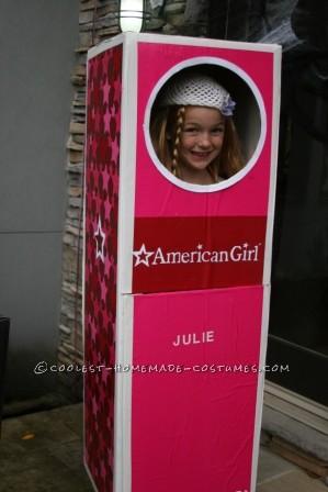 Sierra as Julie inside the box