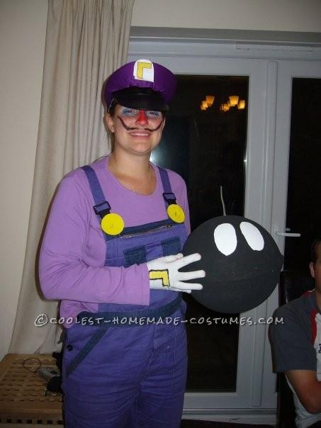 Original Waluigi Mario Kart Costume - 3