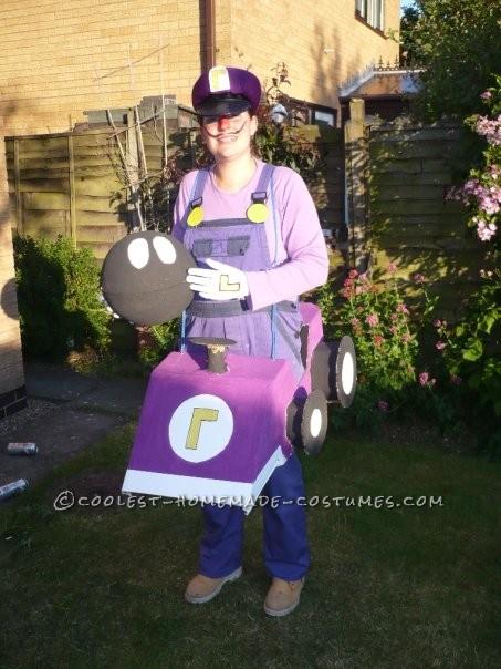 Original Waluigi Mario Kart Costume - 1