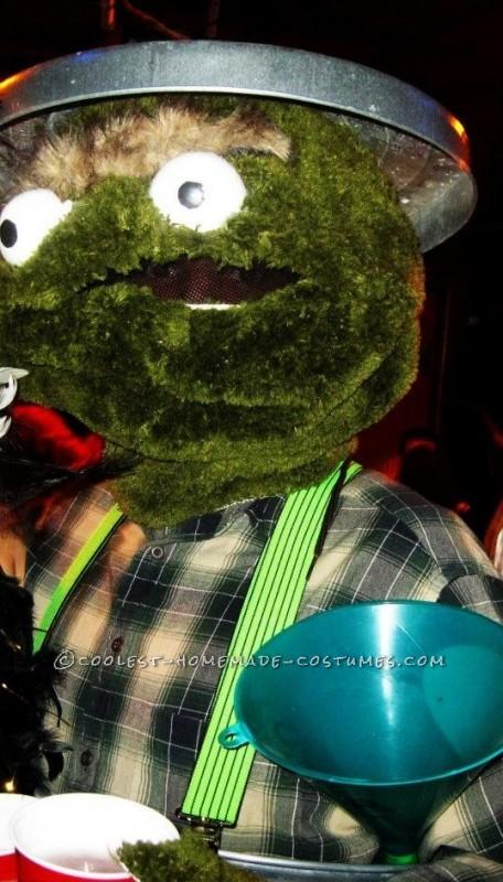 Fun Homemade Oscar the Grouch Halloween Costume - 1