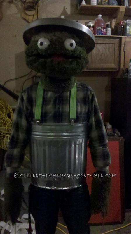 Fun Homemade Oscar the Grouch Halloween Costume - 2