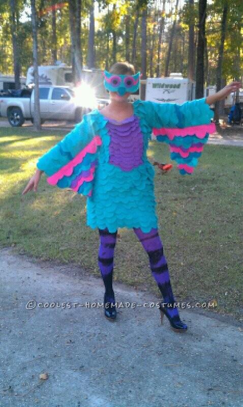 Colorful Homemade Owl Costume Costume