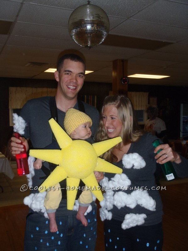 Partly Cloudy With a Chance of Rain Family Costume