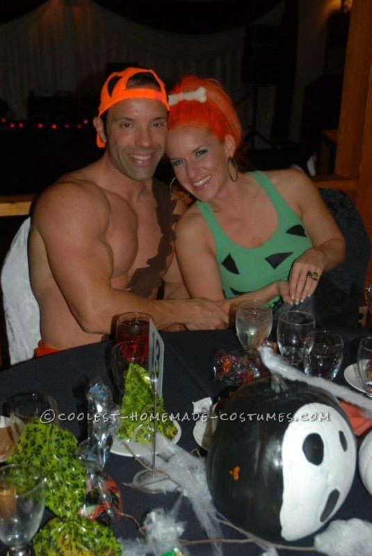 Simple and Fun Pebbles and Bamm-Bamm Couple Halloween Costume - 4