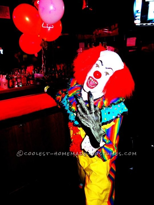 Scary Pennywise the Clown Costume - 5