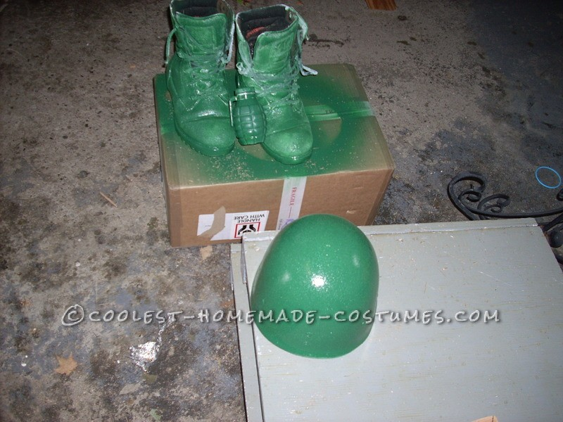 The boots and helment painted