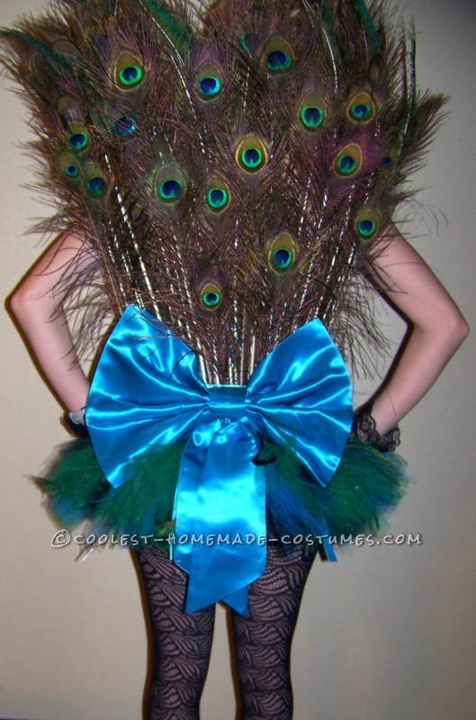 Plush Homemade Peahen Costume - 2
