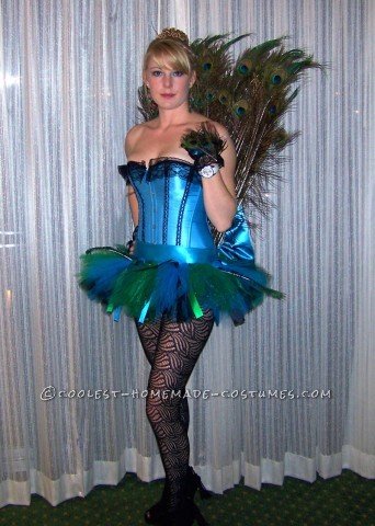 Plush Homemade Peahen Costume