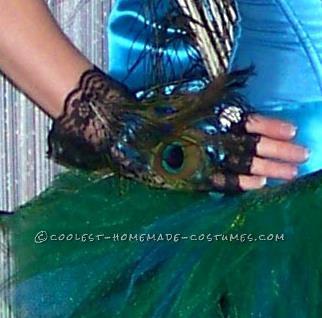 Plush Homemade Peahen Costume - 4