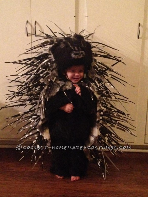Homemade Prickly Porcupine Costume for a Girl