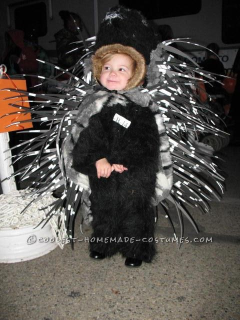 Homemade Prickly Porcupine Costume for a Girl - 6