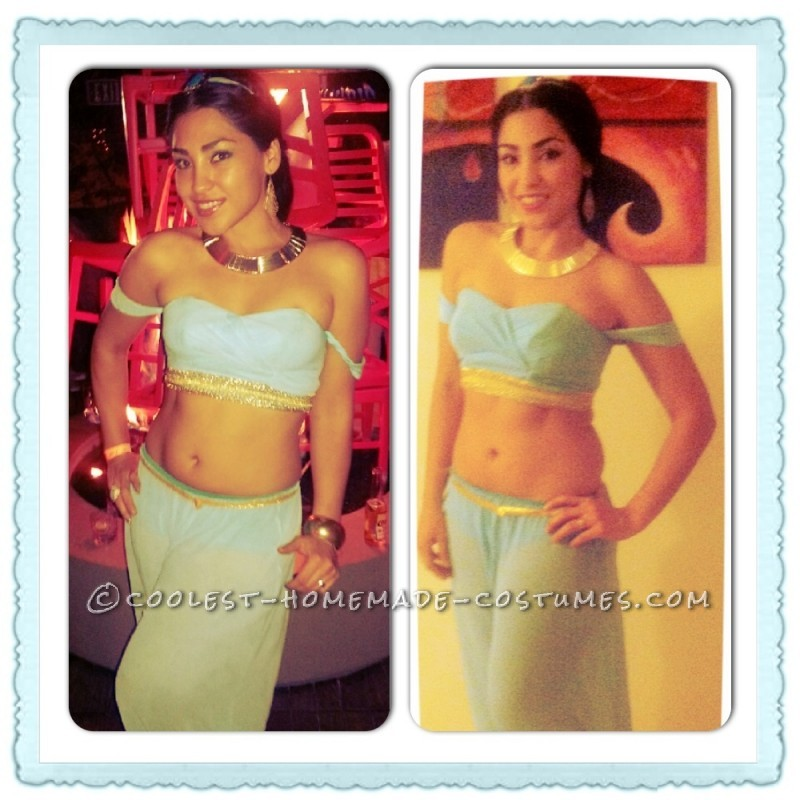 Pretty Homemade Princess Jasmine Costume
