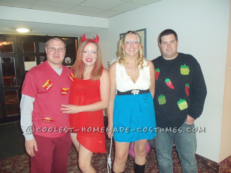 Last-Minute Red Hot Chili Peppers Group Wordplay Costume