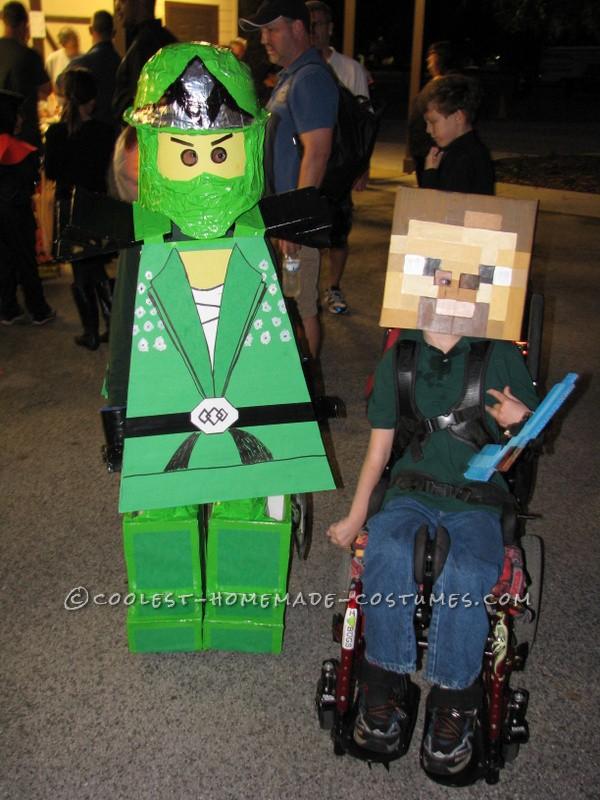 Ninjago Halloween Costume.Coolest Homemade Green Ninjago Halloween Costume For A Boy