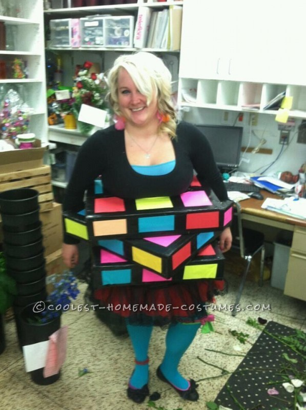 Cool Homemade Rubik's Cube Costume
