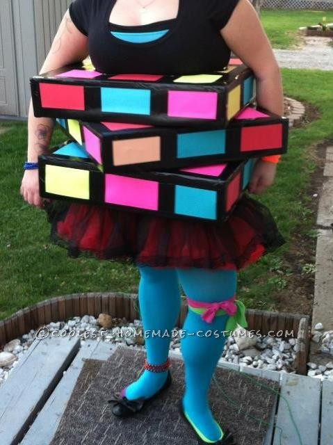 Cool Homemade Rubik's Cube Costume - 1