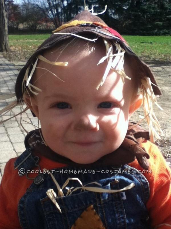 Last-Minute Baby Scarecrow Costume - 2