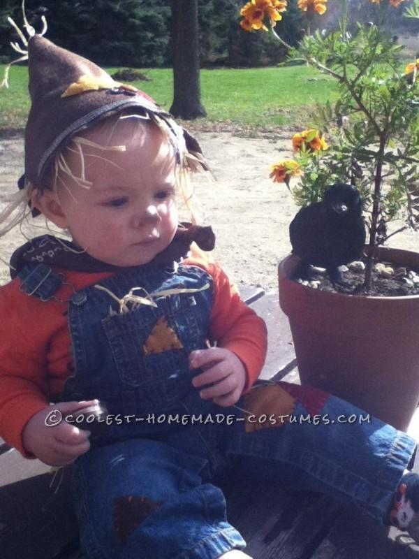 Last-Minute Baby Scarecrow Costume - 1